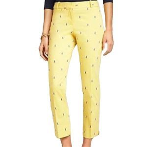 Talbots Bumble Bee Embroidered Crop Pants size 10P